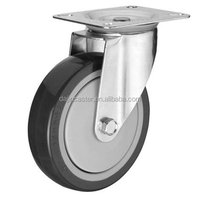 Polyurethane Wheel Steel Core Rubber Swivel Caster Wheels
