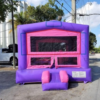 New happy purple bouncy castle/inflatable bouncer/inflatable bouncer for sale