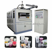 Full automatic plastic cup thermoforming machine
