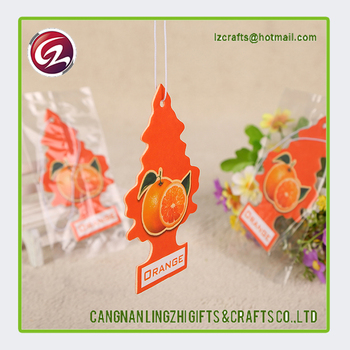 Promotional Custom Paper Hanging car air freshener