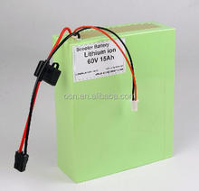 Li-ion battery 12v 24v 36v 48v 60v 72v 10ah 15ah 20ah 30ah 40ah electric scooter battery pack