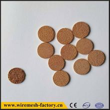 stainless steel bronze brass round metal copper powder sintered filter disc
