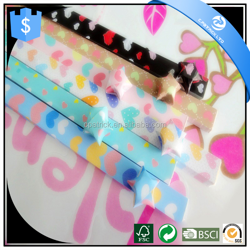 Love shape Color Lucky Star Origami Paper