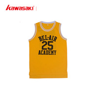 Wholesale cheap yellow color jersey best design for basketball uniform