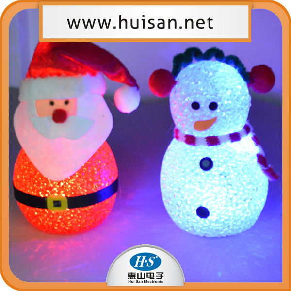 christmas light flashing snowman/light up snowman/led light christmas snowman decoration
