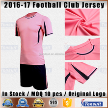 Soccer sports jersey new model 16/17 latest design hot sale thai quality football jersey soccer grade ori