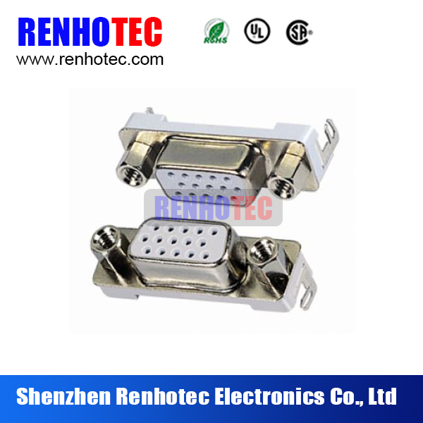 HDR 15p female slim reverse High Power High Current Cable 15 Pin Female Socket DB15 D Sub Connector