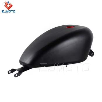 ZJMOTO High Quality Iron 3.3 Gallon Black Motorcycle Gas/Fuel Tank For 2007-2016 Harley Davidson Sportster 883 XL 1200