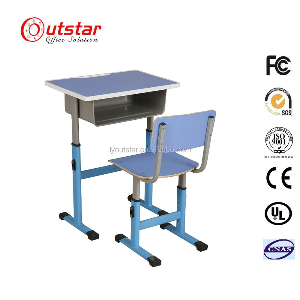 Popular Costomized School Student Single Study Writing Desk Table for Tender