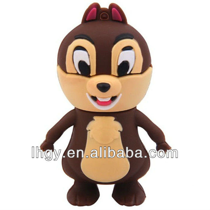 16GB birthday gift mini 3D cartoon Squirrel usb flash drive (LH-1904)