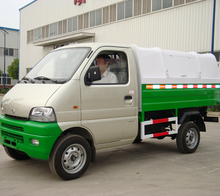 3 cubic small Hook arm garbage truck