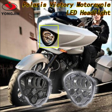 2016 new arrive!For Polaris Victory Motorcycle BLACK LED Headlight in automobiles & motorcycles
