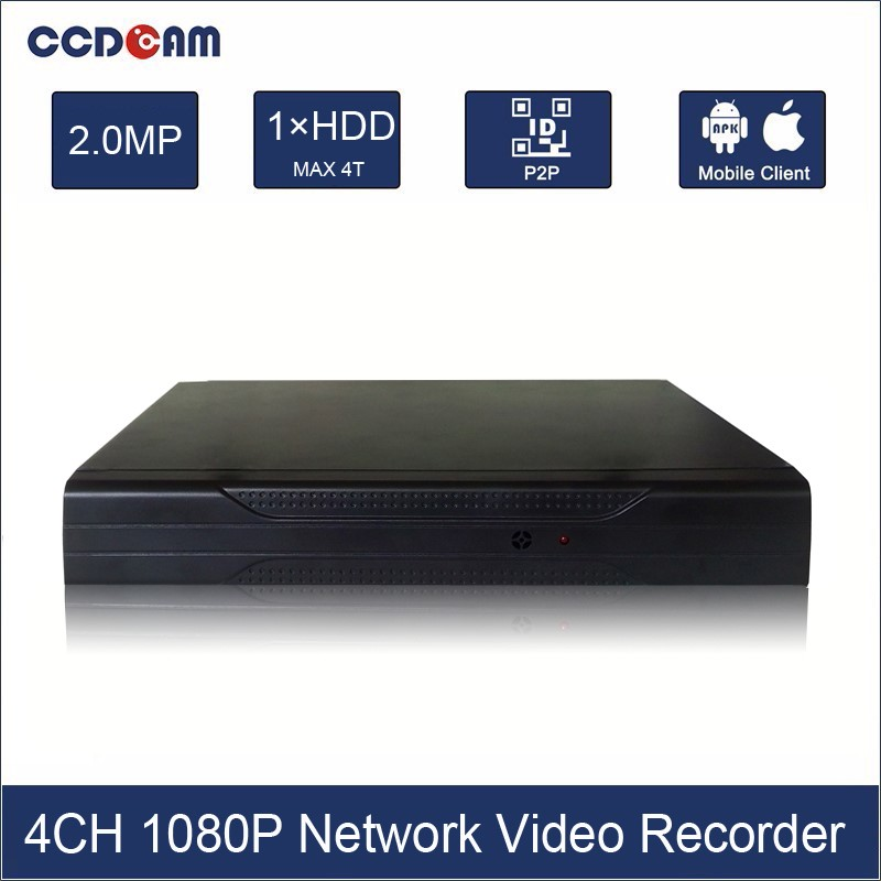 4CH NVR Full HD 1080P NVR 4 Channel Video Security System H.264 Digital Video Recorder