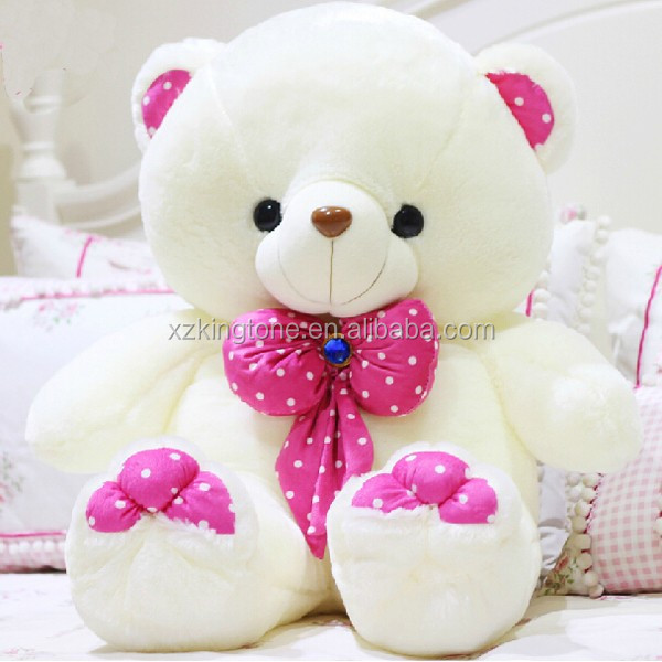 Custom different color soft kids toys/teddy bear with tie