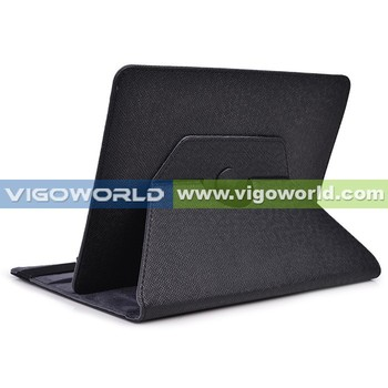360 rotating leather tablet case for Samsung P600, case for 9-10.1 inch