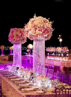 FH15 High quality crystal table top chandelier for wedding decorations centerpiece