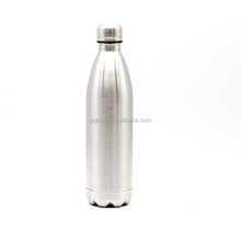 750ml vacuum insulated double walled stainless steel sports cola shaped water bottle with screw cap