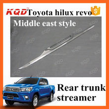 chrome rear trunk lid cover for toyota hilux revo middle east style pickup trucks rear trunk streamer toyota hilux accessories