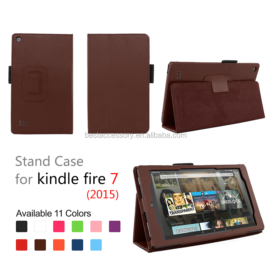 for Amazon Kindle fire 7 leather case 2015,fire hd 7 case 2015