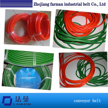 Green Orange Transparent PU round belt Polyurethane drive belt smooth and rough surface for Sale