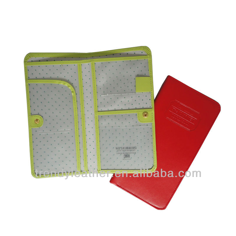 Wholesale leather passport holders 6 colors