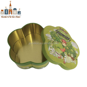 tin packing can flower shape candy packing tin box candy package