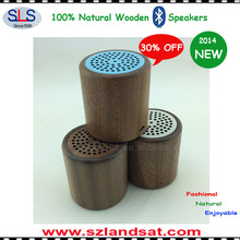 2015 New super bass wood stereo bluetooth speaker BSW08