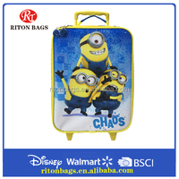 Latest Hot Selling Cute Minions Design Cheap Trolley Bag Rolling Luggage Suitcase for Kids
