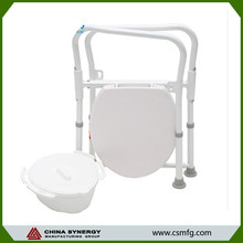 New model hospital commode chair,customize wheeled commode chair