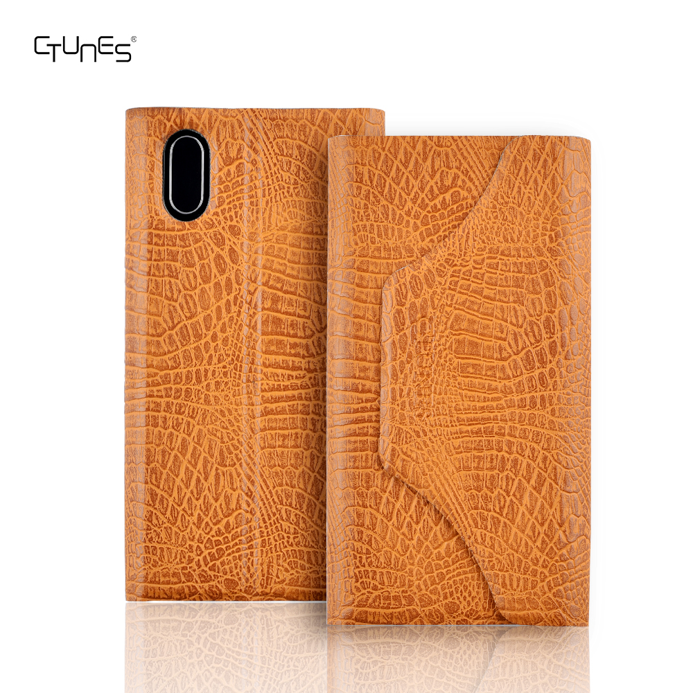 Deluxe Crocodile Pattern PU Leather Protective Flip Wallet Folio Stand Case Cover With Card Holders for iPhone 8