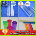 High glossy custom shape cast transparent clear acrylic rod