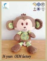 customed logo promotional gifts cheap plush monkey toys