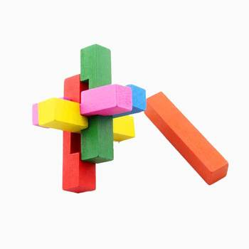 Chinese kongming Wooden Lock Montessori Educational toy Wooden Blocks Toys Wood Game Pieces