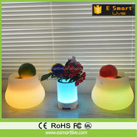 Soft silicone case desk lamp table lamp bluetooth speaker with colorful LED lights