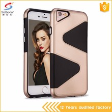 Guangzhou wholesale latest design S shaped tpu+pc phone case for iphone 7,for iphone 7 plus case