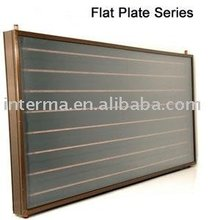 Flat panel solar collector for swimming pool
