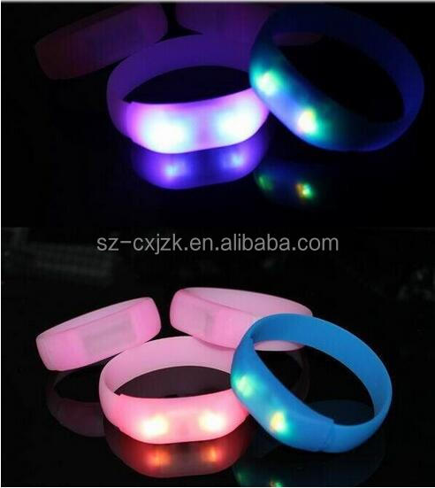 New Arrival!Festival ticket nfc rfid led flashing wristband 13.56mhz