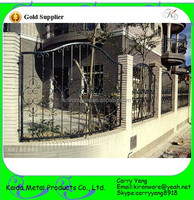 Galvanized and Power Coated Wrought Iron Low Carbon Steel Fence