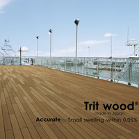 High quality Trit wood WPC decking made in Japan cheaper price for outdoor flooring