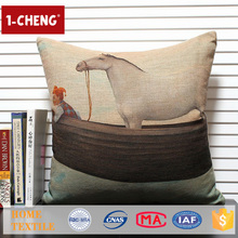 Trade Assurance Creative Horse Printed Custom Cushion Home Decor Pillow Case Sofa Case Indian Christmas Decorations