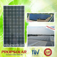 Propsolar black price solar panel 300w high efficiency light weight TUV standard