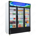 Upright three door Showcase fridge large beverage cooler for supermarket commercial promotion