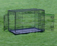 Pet Dog Wire Crate With Two Doors