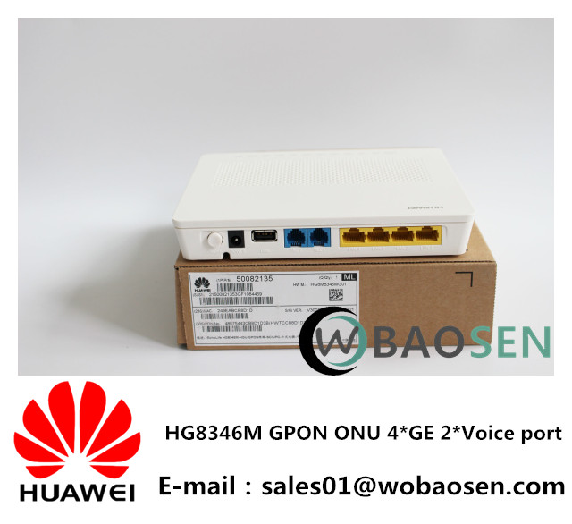 Huawei HG8346M/HG8245A/HG8245H GPON ONU 4LAN+2 VOICE+Wifi English firmware as ONT