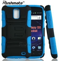 For Samsung Galaxy S2 I727 PC Silicone Kickstand Blue Mobile Phone Case