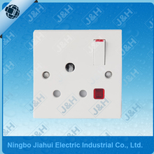 JHE8315SL Good Quality British Standard 15A LED Switch Socket High Power Wall Socket with Shutter Air Conditioner