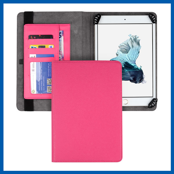 C&T New fashion card pocket for ipad mini leather case with stand