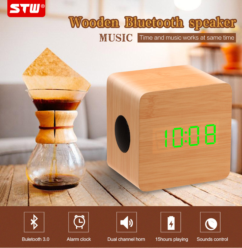 new OEM wood mini speaker bluetooth