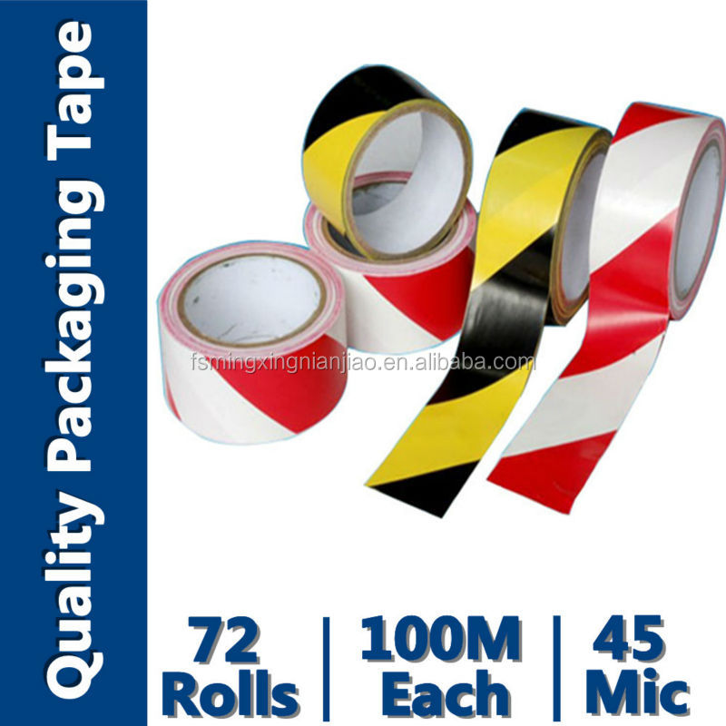 Red And White Safety Striped Tape(PVC Backing Material,Coated with Rubber Adhesive)