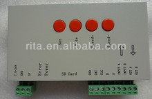 T-1000S LED SD card pixel controller;B type;support TLS3001 IC;DC5-24V input;SPI signal output